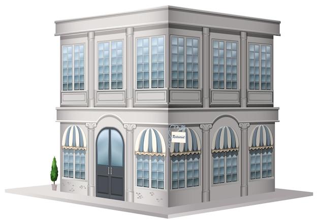 3d design for building in vintage style