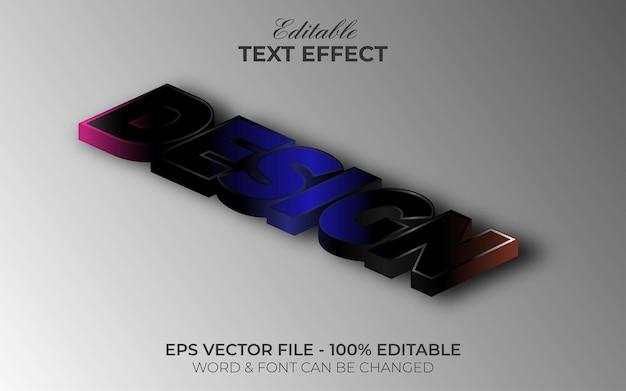 Стиль текстового эффекта 3d-дизайна. редактируемый текстовый эффект изометрической темы.