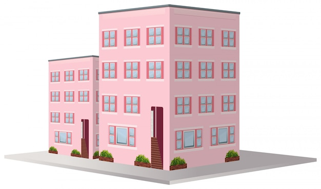 3d design for two apartment buildings