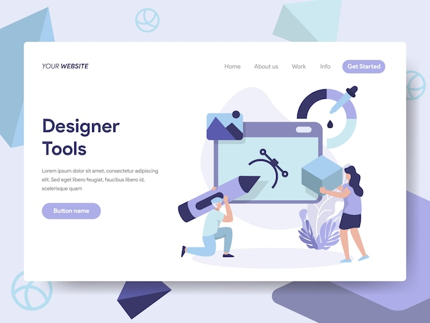3d designer tools illustration