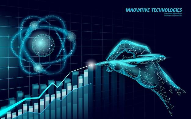 3d 디지털 경제 긍정적 인 추세 개념
