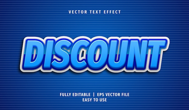 3d discount text effect, editable text style