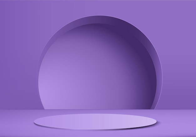 3d display product abstract minimal scene with geometric podium platform.