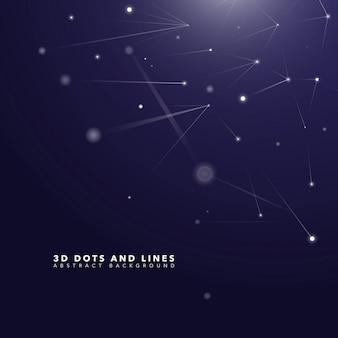 3d-точки абстрактный научный фон