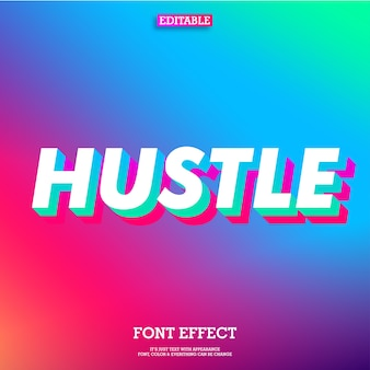 3d double gradient font effect with cool modern gradient