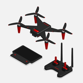 3d drone and remote control set