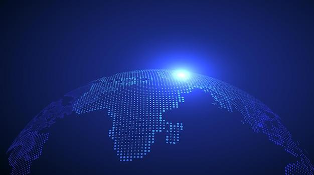 3d изображение земли, символизирующее иллюстрацию глобальной торговли.