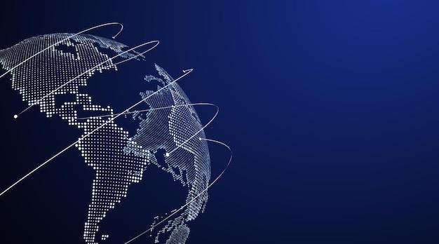 글로벌 무역 그림을 상징하는 3d 지구 그래픽.