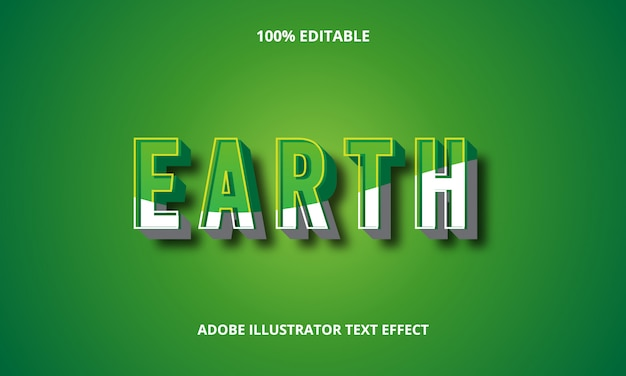 3d earth text effect