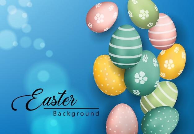 3d easter eggs background