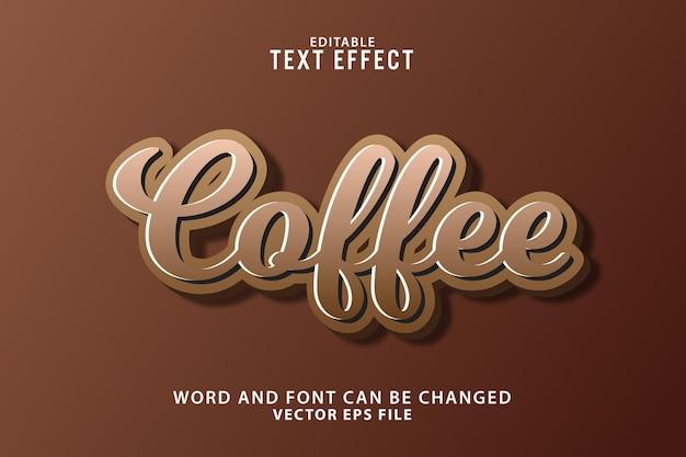 3d 편집 가능한 커피 텍스트 효과