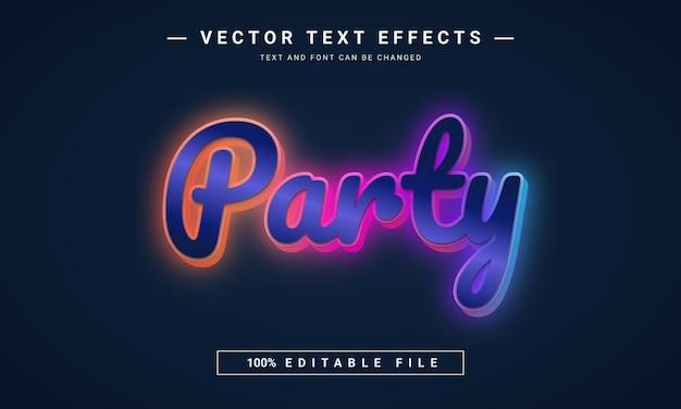 3d編集可能なパーティーテキスト効果のデザイン