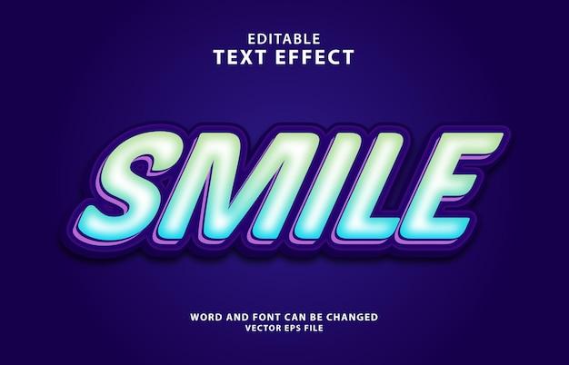 Редактируемый текстовый эффект улыбки 3d