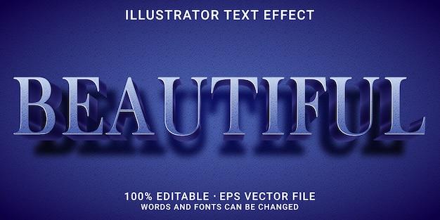 3d編集可能なテキスト効果-美しいスタイル