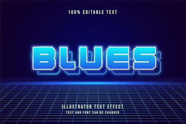 3 d編集可能なテキスト効果青いグラデーションモダンなシャドウスタイル