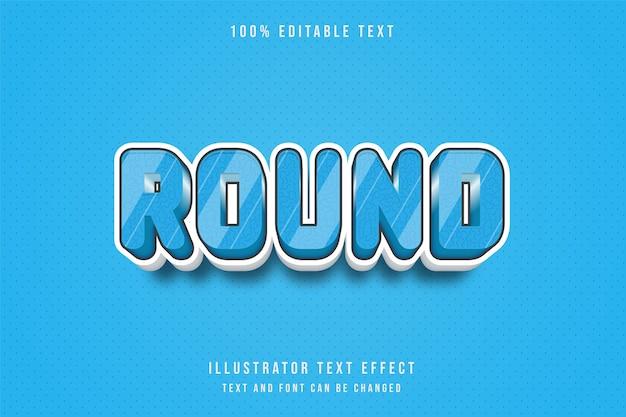 3d 편집 가능한 텍스트 효과 파란색 흰색 패턴 그림자 스타일