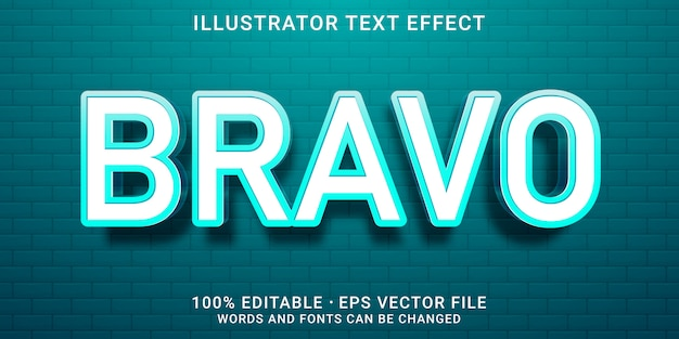 3d editable text effect -  bravo style