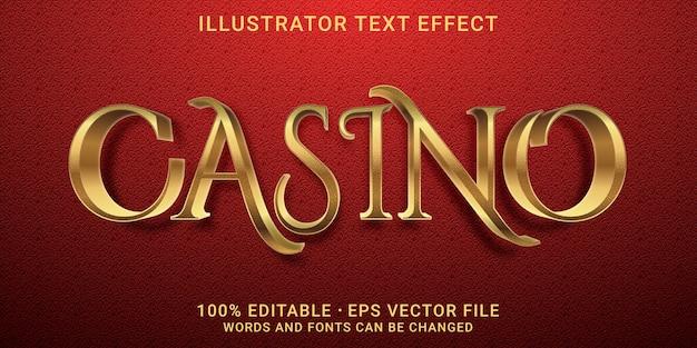 Трехмерный редактируемый текстовый эффект - стиль казино