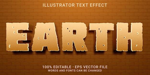 3d編集可能なテキスト効果-earthスタイル