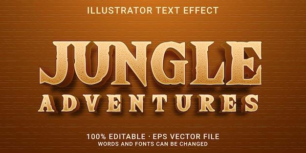 3d編集可能なテキスト効果-ジャングルアドベンチャースタイル