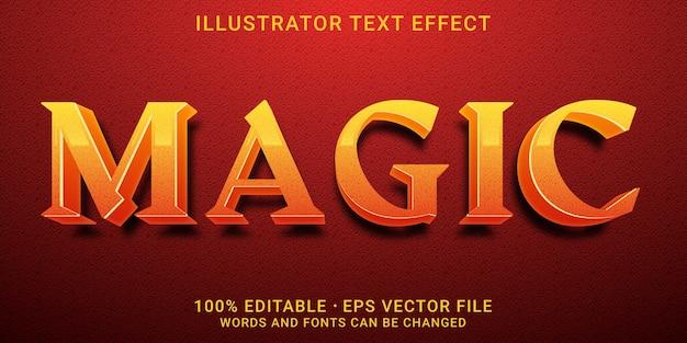 3d編集可能なテキスト効果-magicスタイル