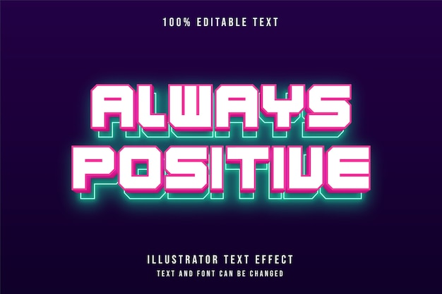 3d editable text effect modern red greeb text neon style