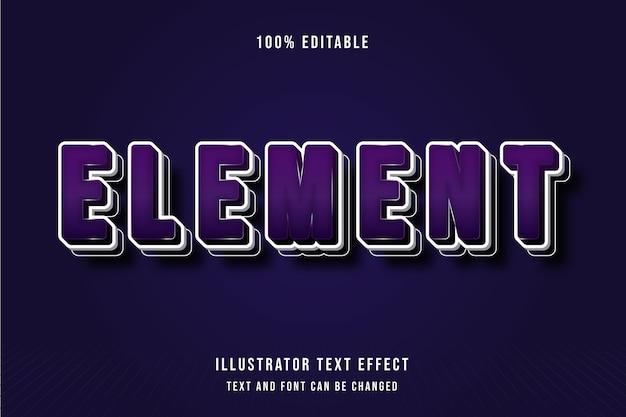 3d редактируемый текстовый эффект фиолетовый белый узор современный стиль тени