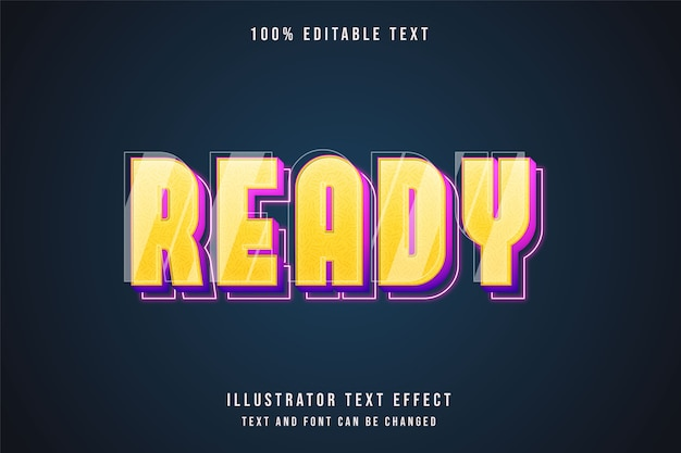 3d редактируемый текстовый эффект желтая градация розовый фиолетовый неоновый стиль