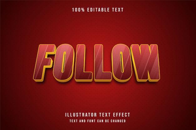 3d редактируемый текстовый эффект желтый красный узор золотой стиль