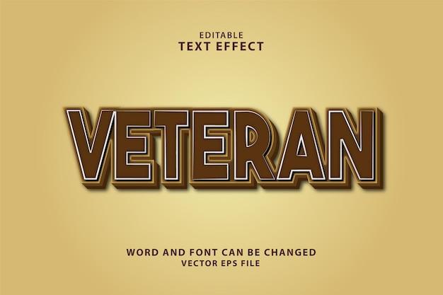 Редактируемый текстовый эффект ветеранов 3d