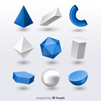 3d effect of geometric shapes