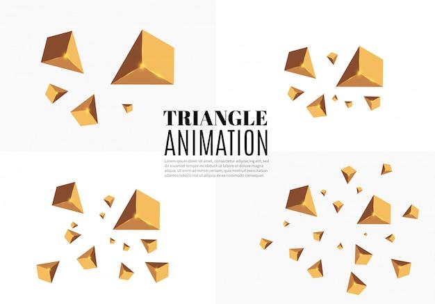 비행 삼각형의 3d effect.motion입니다.