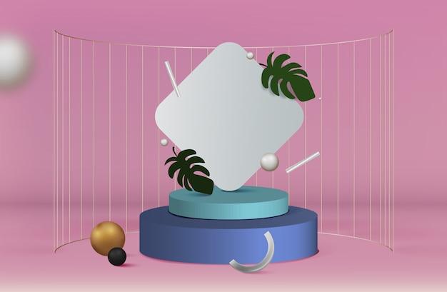 3d элегантный подиум для размещения продукта и редактируемый цвет