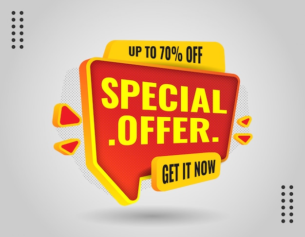 3d elegant promotion banner for promote your business and offer
