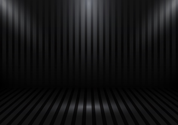 3d empty black studio room background
