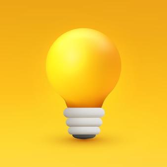 3d энергия лампочка желтая идея