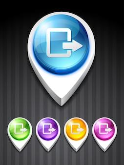 3d exit icon