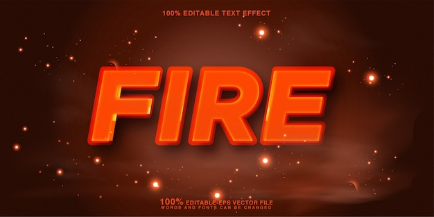 3d fire mockup text style effect