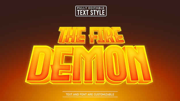 3d flame glow game and movie title editable text effect