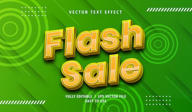 3d flash sale text effect, editable text style