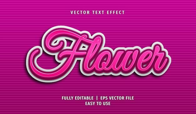3d flower text effect, editable text style