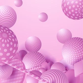 Sfere fluenti 3d. illustrazione astratta di vettore di bolle multicolori o cluster di palline. moderno concetto alla moda. elemento decorativo dinamico. poster futuristico o design di copertina
