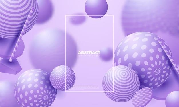 3d плавные сферы. векторные абстрактные иллюстрации разноцветных пузырей или кластера шаров. современная модная концепция. динамический элемент декора. футуристический дизайн плаката или обложки