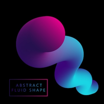 3d fluid like shape