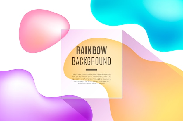 3d fluid rainbow shapes background