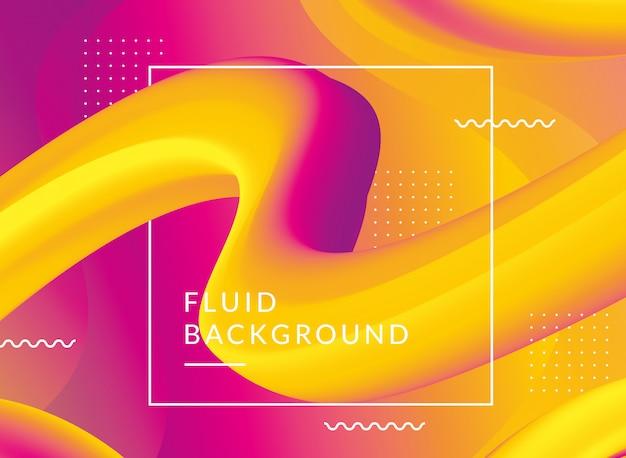 3d fluid shape illustration background