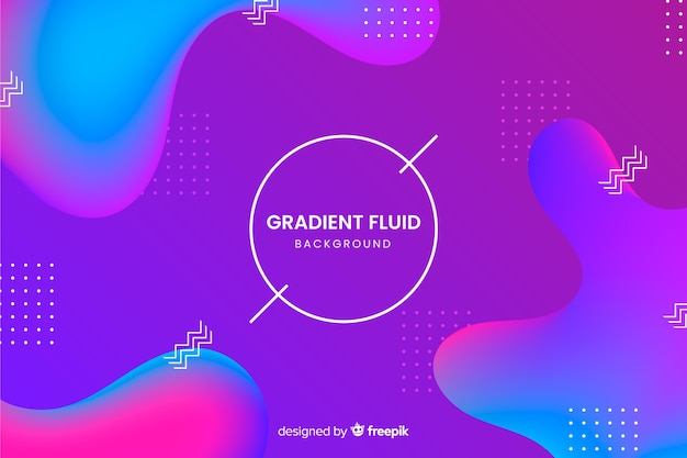 3d fluid shapes background