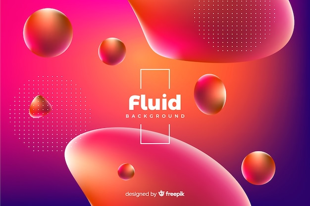 3d fluid shapes background