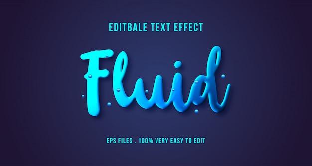 3d fluid text effect, editable text