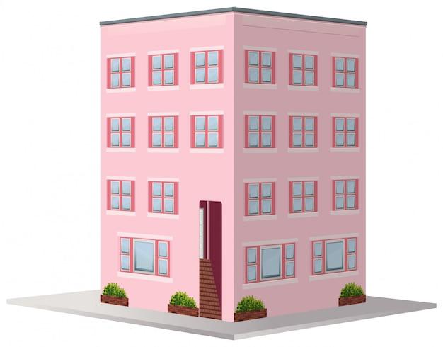アパートの建物の3d